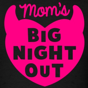 MOM's BIG NIGHT OUT! devil horns cute  T-Shirts - Men's T-Shirt