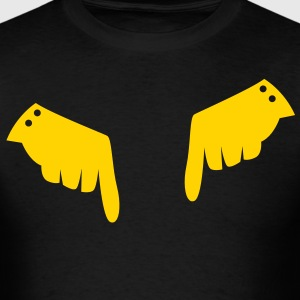 two fancy hands in gloves pointing down T-Shirts - Men's T-Shirt