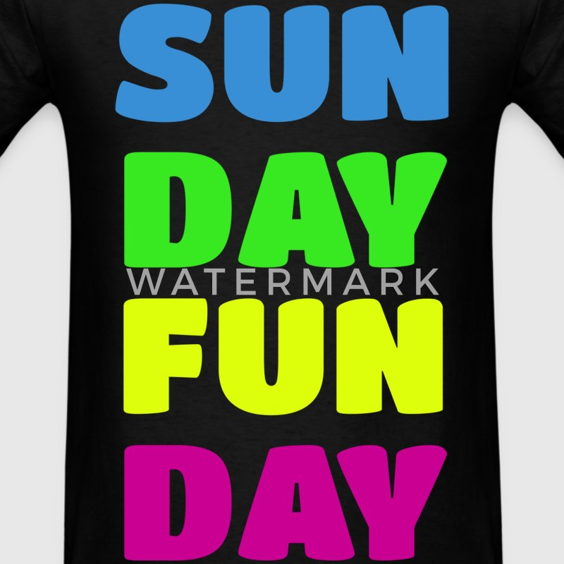 Sunday Fun Day Colorful Design T-Shirts - Men's T-Shirt