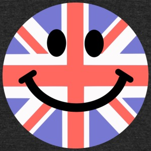 British Flag Smiley Face T-Shirts - Unisex Tri-Blend T-Shirt by American Apparel