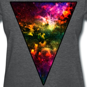Colorful Galaxy Triangle Women's T-Shirts - Women's T-Shirt