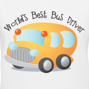 Bus Driver T-shirt (Worlds Best) - Women's V-Neck T-Shirt