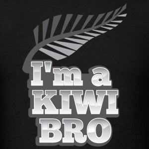 I'm a kiwi BRO in silver NEW ZEALAND T-Shirts - Men's T-Shirt