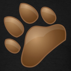 cute doggy dog paw print T-Shirts - Men's T-Shirt