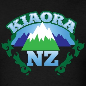kiaora new ZEALAND NZ with mountains T-Shirts - Men's T-Shirt