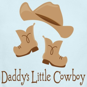 Daddy's Little Cowboy Baby T-shirt - Short Sleeve Baby Bodysuit