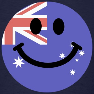Australian flag smiley face T-Shirts - Men's T-Shirt