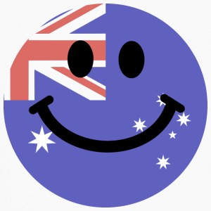 Australian flag smiley face Kids' Shirts - Kids' Long Sleeve T-Shirt