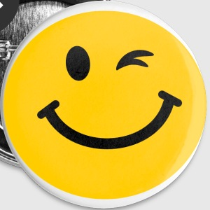 Winking Smiley face Buttons - Large Buttons