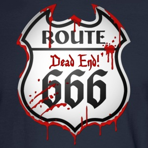 Route 666 (dd print) Long Sleeve Shirts - Men's Long Sleeve T-Shirt