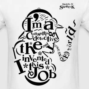 Sherlock Typography  (Original Version) - Men's T-Shirt