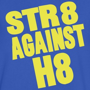 STR8 AGAINST H8 T-Shirts - Men's V-Neck T-Shirt by Canvas
