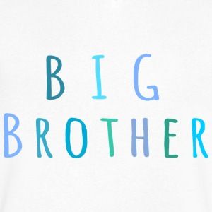 Big Brother in blue T-Shirts - Men's V-Neck T-Shirt by Canvas