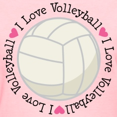 Volleyball Womens T-shirt (I Love Volleyball)