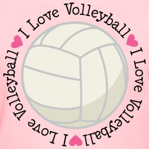 Volleyball Womens T-shirt (I Love Volleyball) - Women's T-Shirt