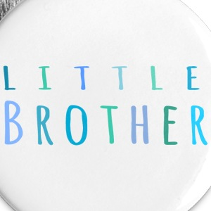 Little Brother in blue Buttons - Large Buttons