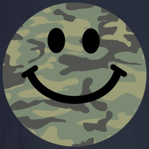 Army green camo Smiley face Long Sleeve Shirts - Men's Long Sleeve T-Shirt