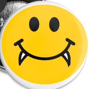 Vampire Smiley face Buttons - Large Buttons