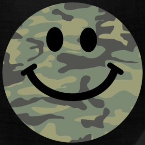 Army green camo Smiley face Caps - Bandana