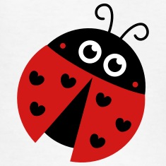cute ladybug with heart spots Kids' Shirts