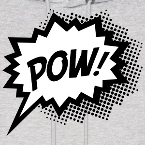 Comic POW, Super Hero, Cartoon, Fun, Speech Bubble Hoodies - Men's Hoodie