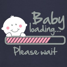 Baby loading - please wait Women's T-Shirts