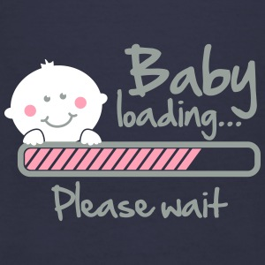 Baby loading - please wait Women's T-Shirts - Women's V-Neck T-Shirt