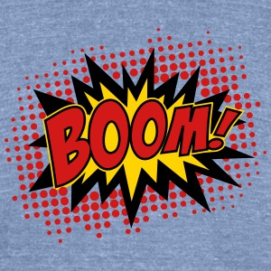 BOOM, comic, speech bubble, cartoon, balloon, dots T-Shirts - Unisex Tri-Blend T-Shirt