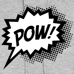 Comic POW, Super Hero, Cartoon, Fun, Speech Bubble Hoodies - Women's Hoodie