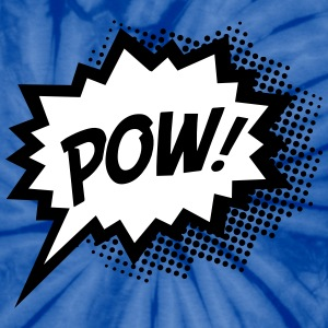 Comic POW, Super Hero, Cartoon, Fun, Speech Bubble T-Shirts - Unisex Tie Dye T-Shirt