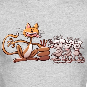 Cat Choosing a Mouse by Drawing the Short Straw Long Sleeve Shirts - Men's Long Sleeve T-Shirt by Next Level