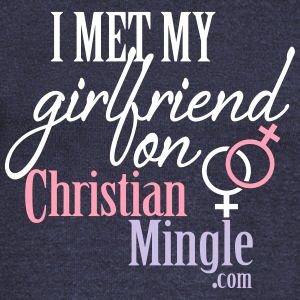 I Met My Girlfriend on ChristianMingle.com Long Sleeve Shirts - Women's Wideneck Sweatshirt