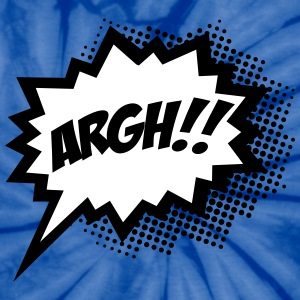 comic ARGH!, Super Hero, Cartoon, Speech Bubble T-Shirts - Unisex Tie Dye T-Shirt