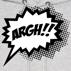 comic ARGH!, Super Hero, Cartoon, Speech Bubble Hoodies - Men's Hoodie