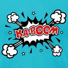 KABOOM, comic speech bubble, cartoon, explosion T-Shirts