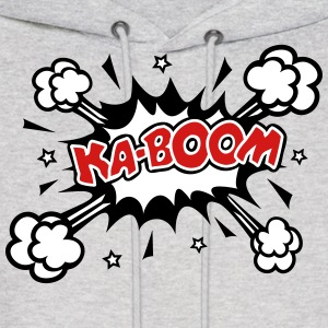 KABOOM, comic speech bubble, cartoon, explosion Hoodies - Men's Hoodie