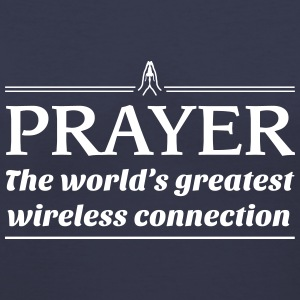 Prayer.World's greatest wireless connection Women's T-Shirts - Women's V-Neck T-Shirt