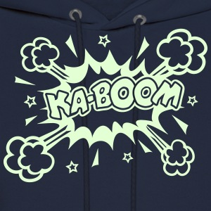 KABOOM glow in the dark, comic bubble, cartoon Hoodies - Men's Hoodie