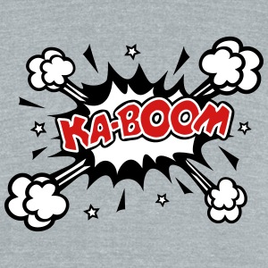 KABOOM, comic speech bubble, cartoon, explosion T-Shirts - Unisex Tri-Blend T-Shirt by American Apparel