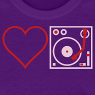 Design ~ I DJ - Love DJ - Heart DJ - 2 color FLOCK print