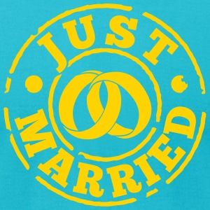 Just Married T-Shirts - Men's T-Shirt by American Apparel