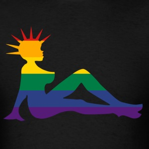 Rainbow Punk Mudflap Girl T-Shirts - Men's T-Shirt