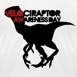 Velociraptor Awareness Day - Men's T-Shirt by American Apparel