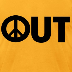 Peace Out - Men's T-Shirt by American Apparel