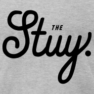 "Design ~ Mens ""The New Stuy"" Logo Tee Gray"