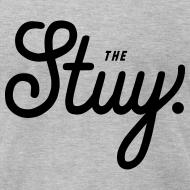 """Design ~ Mens """"The New Stuy"""" Logo Tee Gray"""