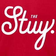 """Design ~ Mens """"The New Stuy"""" Logo Tee Red"""