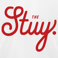 "Design ~ Mens ""The New Stuy"" Logo Tee White"