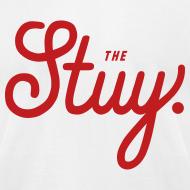 """Design ~ Mens """"The New Stuy"""" Logo Tee White"""