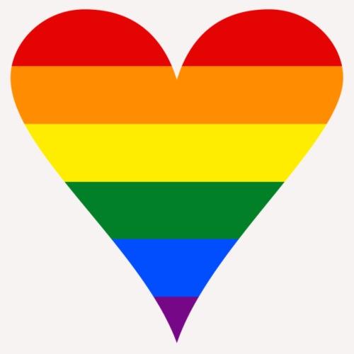 Gay Pride Rainbow Heart Funky
